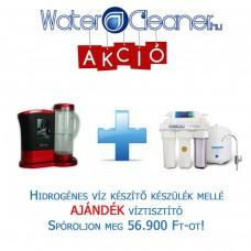 Hidrogénes víz készítő készülék + AJÁNDÉK RO102 ozmózisos víztisztító